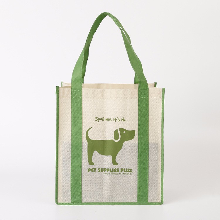 Non woven shopping tote bag with long handles