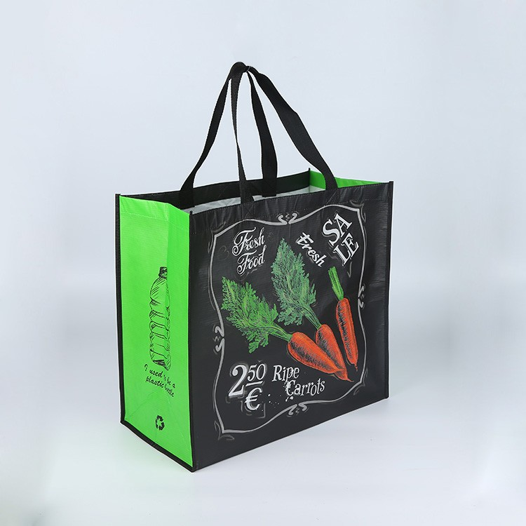 Eco friendly full color laminated recycled RPET bag