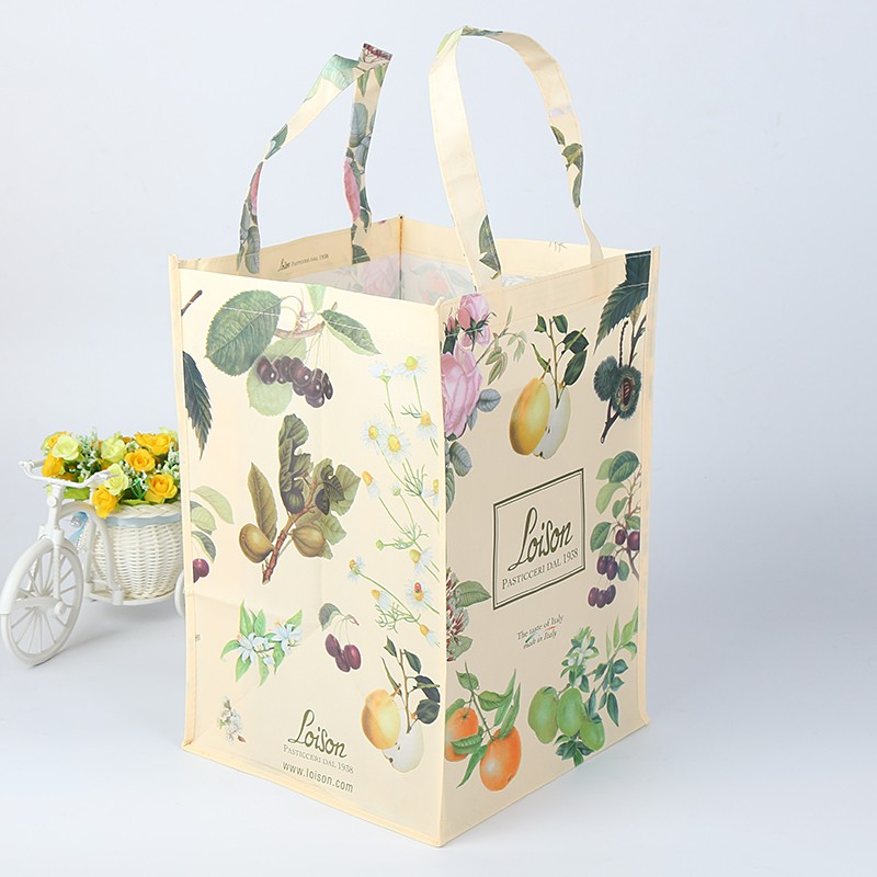 recycled full color laminated nonwoven printed bag
